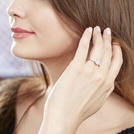 Bague Serena Or Blanc Diamant - Bagues avec pierre Femme   Histoire d'Or