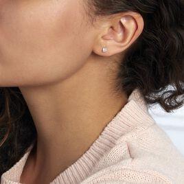 Boucles D'oreilles Puces Daria Coeur Or Jaune Oxyde - Boucles d'Oreilles Coeur Femme | Histoire d'Or