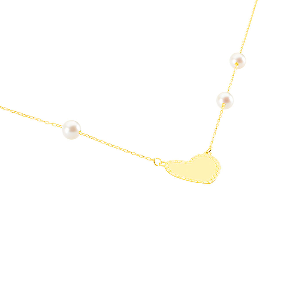Collier Jalal Or Jaune Perle De Culture
