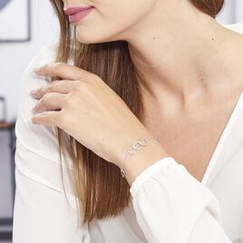 Bracelet Toi Et Moi Argent Blanc - Bracelets fantaisie Femme   Histoire d'Or