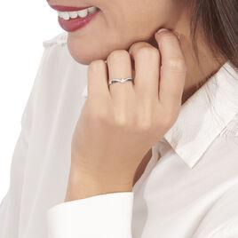 Bague Siriana Or Blanc Diamant - Bagues avec pierre Femme   Histoire d'Or