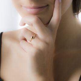 Bague Serti Couteau Or Jaune Saphir - Bagues solitaires Femme | Histoire d'Or