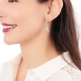 Boucles D'oreilles Pendantes Nahara Plaque Or Jaune Oxyde De Zirconium - Boucles d'oreilles fantaisie Femme | Histoire d'Or