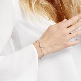 Bracelet Makana Argent Blanc - Bracelets fantaisie Femme | Histoire d'Or
