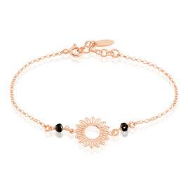 Bracelet Argent Rose Ombelline Soleil - Bracelets fantaisie Femme | Histoire d'Or
