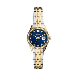 Montre Fossil Scarlette Micro Bleu - Montres Femme   Histoire d'Or