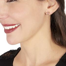 Boucles D'oreilles Puces Juliete Or Jaune Amethyste - Clous d'oreilles Femme | Histoire d'Or