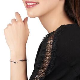 Bracelet Jonc Deva Argent Blanc Oxyde De Zirconium - Bracelets fantaisie Femme   Histoire d'Or