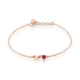 Bracelet Melys Argent Rose Oxyde De Zirconium - Bracelets Coeur Femme | Histoire d'Or