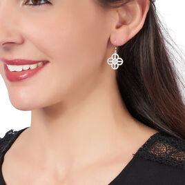 Boucles D'oreilles Pendantes Sabera Argent Blanc Oxyde De Zirconium - Boucles d'oreilles fantaisie Femme   Histoire d'Or