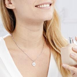 Collier Angelyna Argent Blanc Oxyde De Zirconium - Colliers fantaisie Femme | Histoire d'Or