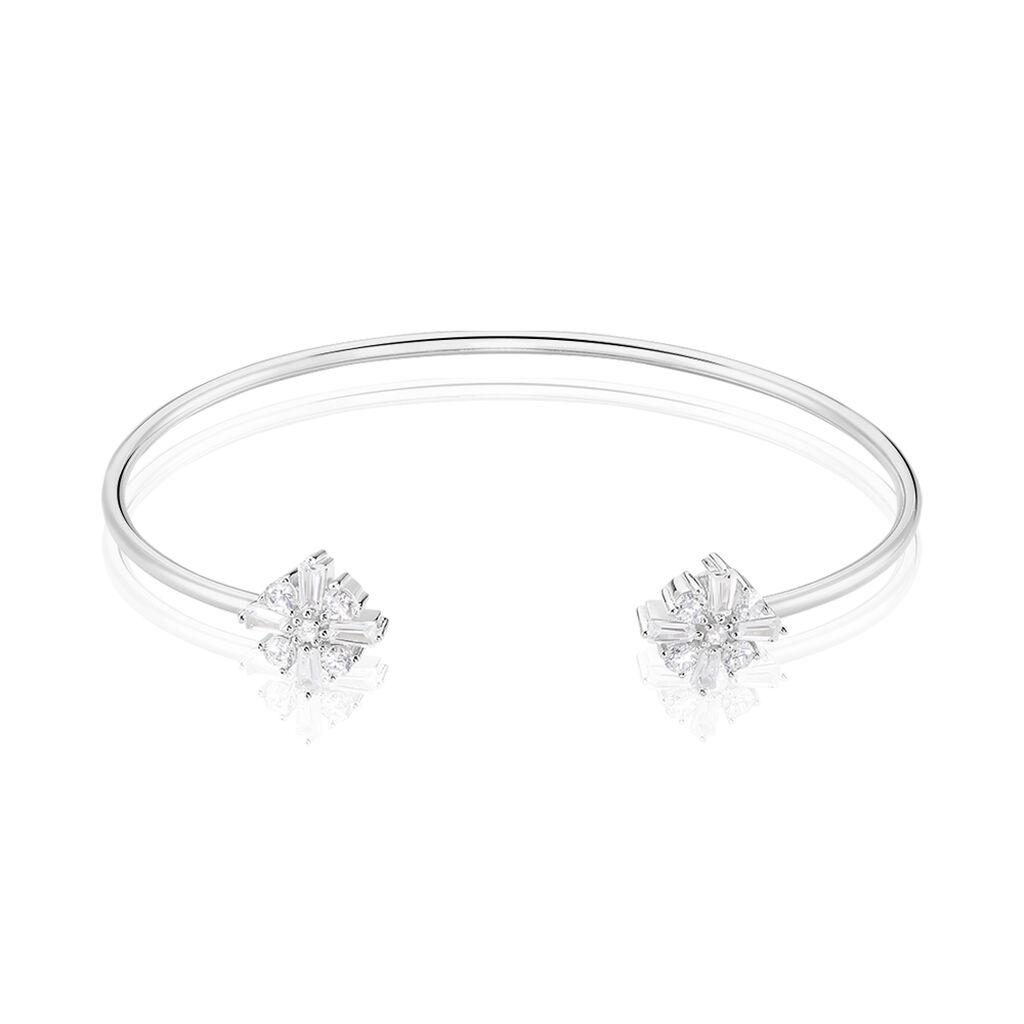 Bracelet Jonc Miryana Empierree Argent Blanc Oxyde De Zirconium - Bracelets Croix Femme | Histoire d'Or