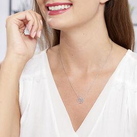 Collier Aelaig Argent Blanc - Colliers Coeur Femme   Histoire d'Or
