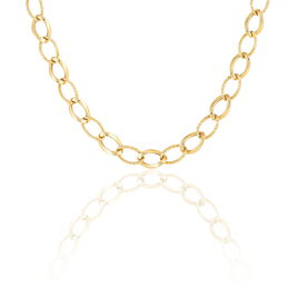 Collier Or Jaune Maille Alternee - Bijoux Femme   Histoire d'Or