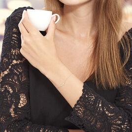 Bracelet Or Jaune Helena Croix Oxydes Helena - Bracelets Croix Femme | Histoire d'Or