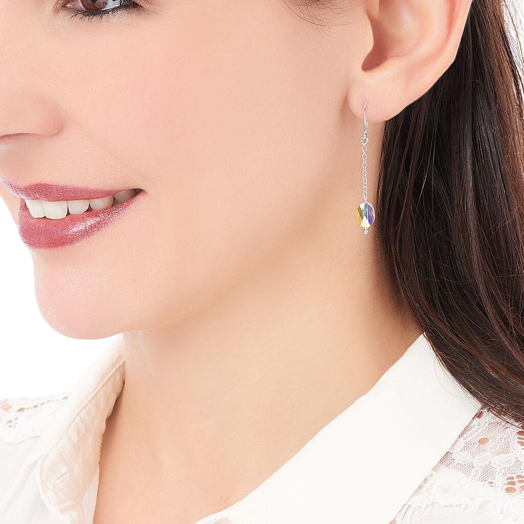 Boucles D'oreilles Pendantes Sirene Argent Blanc Perle De Culture - Boucles d'oreilles fantaisie Femme | Histoire d'Or