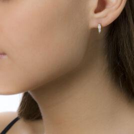 Créoles Janet Rondes Or Jaune Oxyde De Zirconium - Boucles d'oreilles créoles Femme   Histoire d'Or