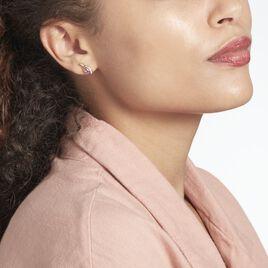 Boucles D'oreilles Sagesse Or Jaune Amethyste Oxyde - Clous d'oreilles Femme | Histoire d'Or