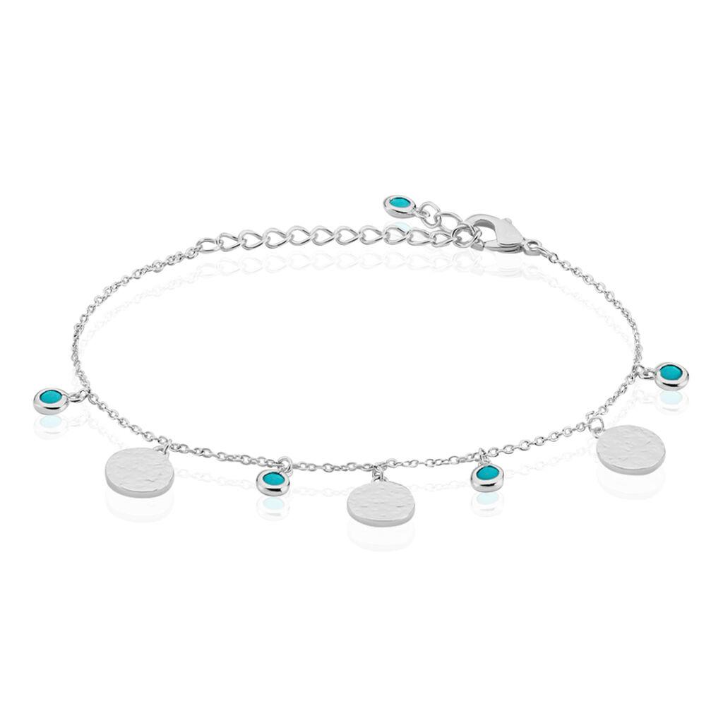 Bracelet Tanaya Argent Blanc Verre - Bracelets fantaisie Femme | Histoire d'Or