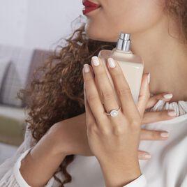 Bague Argent Rhodié Suada Perle De Culture Oxyde De Zirconium - Bagues avec pierre Femme | Histoire d'Or