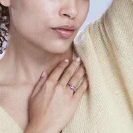 Bague Aaliyah Or Jaune Amethyste - Bagues solitaires Femme   Histoire d'Or