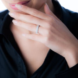 Bague Sadella Or Blanc Oxyde De Zirconium - Bagues avec pierre Femme | Histoire d'Or
