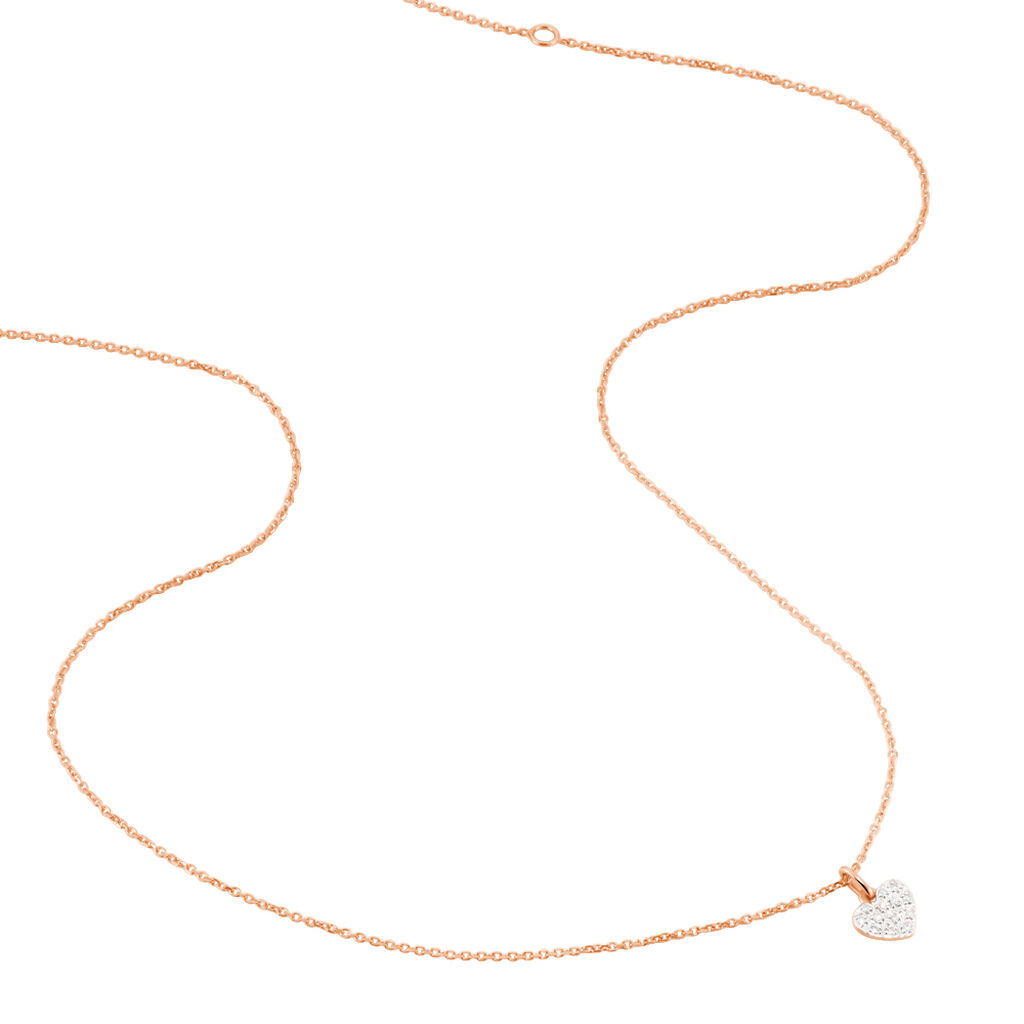 Collier Andre Or Rose Diamant - Colliers Coeur Femme | Histoire d'Or