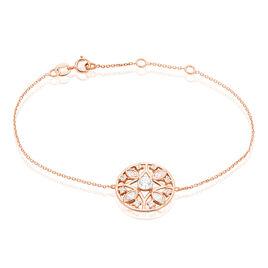 Bracelet Weena Or Rose Oxyde De Zirconium - Bijoux Femme | Histoire d'Or