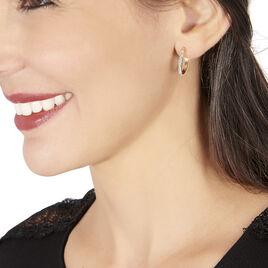 Créoles Or Jaune Et Strass  - Boucles d'oreilles créoles Femme | Histoire d'Or