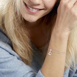 Bracelet Menia Argent Bicolore Cœur - Bracelets fantaisie Femme   Histoire d'Or