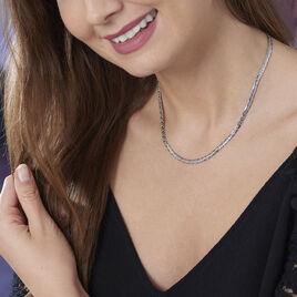 Collier Purete Or Blanc Diamant - Colliers Coeur Femme | Histoire d'Or