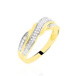 Bague Bandeau Or Jaune Oxyde De Zirconium - Bagues avec pierre Femme | Histoire d'Or