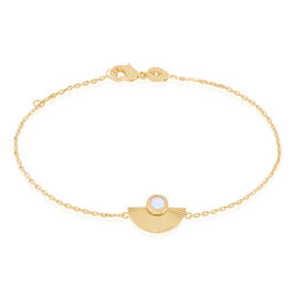 Bracelet Matirna Plaque Or Jaune Pierre De Synthese - Bracelets fantaisie Femme | Histoire d'Or
