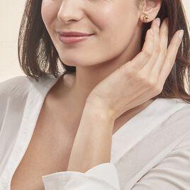 Boucles D'oreilles Puces Ilhame Nid Or Jaune - Clous d'oreilles Femme | Histoire d'Or