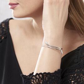 Bracelet Jonc Maisha Argent Blanc - Bracelets fantaisie Femme | Histoire d'Or
