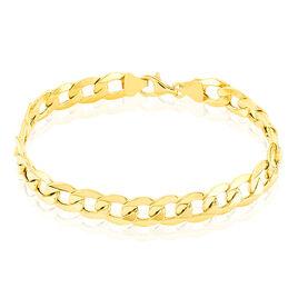 Bracelet Iris Maille Gourmette Or Jaune - Bracelets chaîne Homme   Histoire d'Or