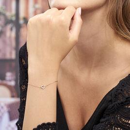 Bracelet Phanie Argent Rose Oxyde De Zirconium - Bracelets Coeur Femme | Histoire d'Or