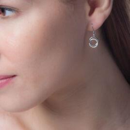 Boucles D'oreilles Pendantes Circus Argent Blanc Oxyde De Zirconium - Boucles d'oreilles fantaisie Femme   Histoire d'Or