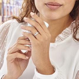 Bague Croisee Or Blanc Diamant - Bagues avec pierre Femme | Histoire d'Or