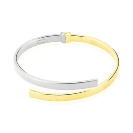 Bracelet Jonc Loise 2 Fils Carres Or Bicolore - Bracelets joncs Femme | Histoire d'Or