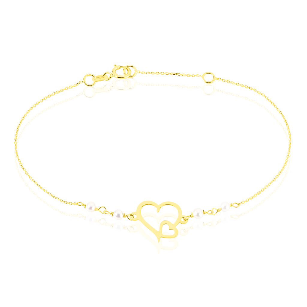 Bracelet Eri Or Jaune Perle De Culture - Bracelets Coeur Femme | Histoire d'Or
