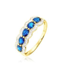 Bague Margaux Or Jaune Topaze Et Diamant - Bagues avec pierre Femme   Histoire d'Or