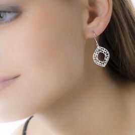 Boucles D'oreilles Pendantes Maurizia Argent Blanc - Boucles d'oreilles fantaisie Femme | Histoire d'Or