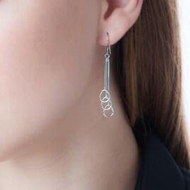 Boucles D'oreilles Pendantes Maei Argent Blanc - Boucles d'Oreilles Papillon Femme | Histoire d'Or