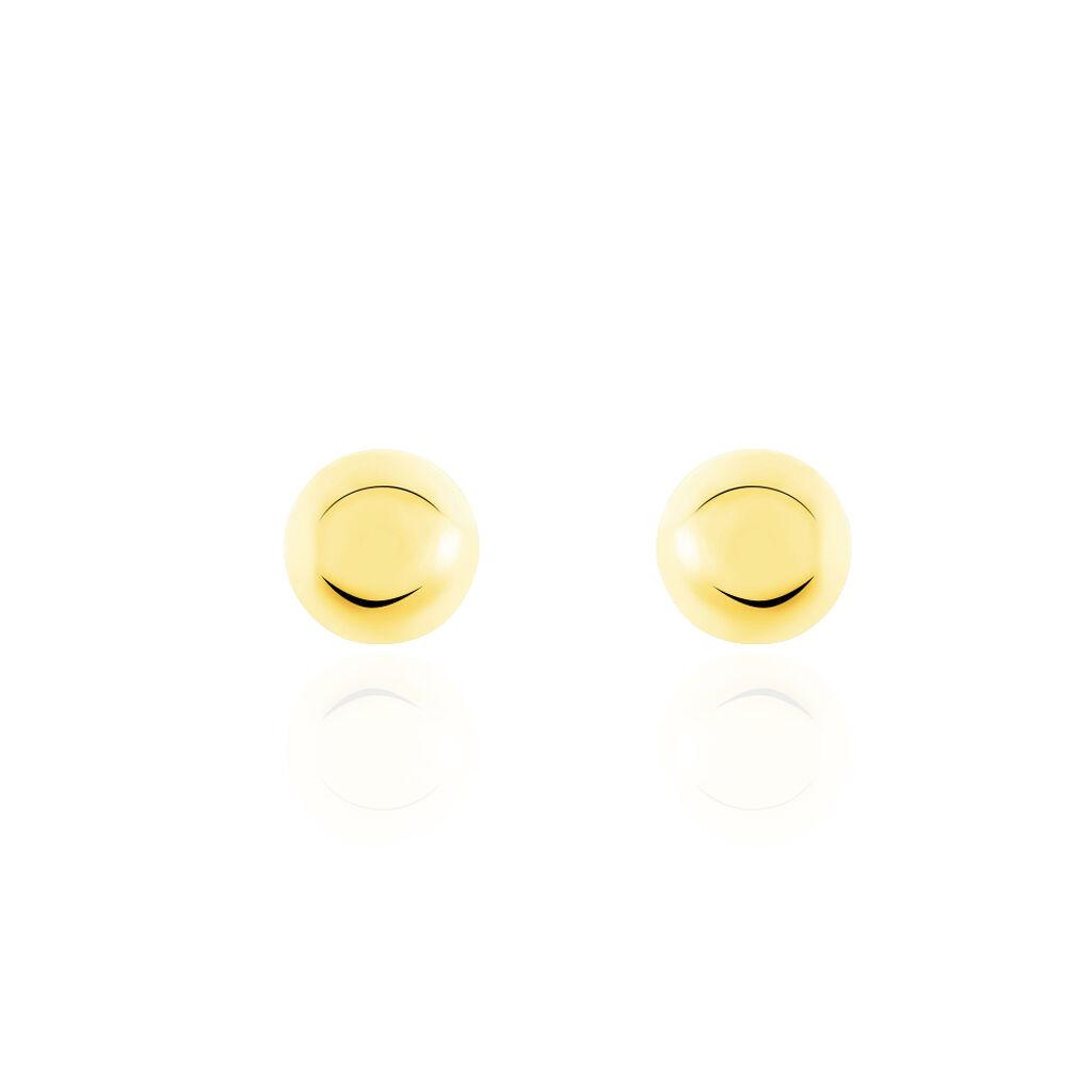 Boucles D'oreilles Puces Fidelia Boule Or Jaune - Clous d'oreilles Femme   Histoire d'Or