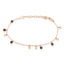 Bracelet Argent Rose Fares Pastille Spinelle - Bracelets fantaisie Femme | Histoire d'Or