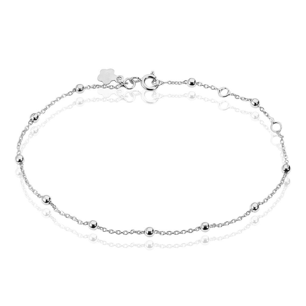 Bracelet Elea Argent Blanc - Bracelets chaîne Femme | Histoire d'Or