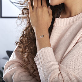 Bracelet Silana Or Blanc Diamant - Bracelets Coeur Femme | Histoire d'Or