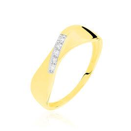 Bague Coralee Or Jaune Diamant - Bagues avec pierre Femme   Histoire d'Or