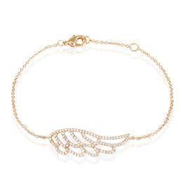 Bracelet Farhana Plaque Or Jaune Oxyde De Zirconium - Bracelets fantaisie Femme | Histoire d'Or